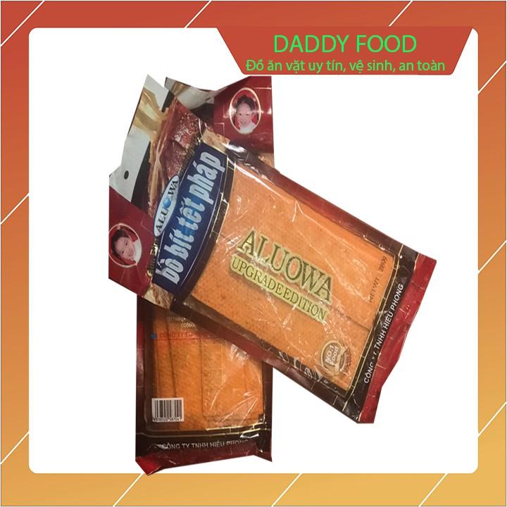 Bim bim bò bít tết pháp gói lớn kích thước 30x18 cm dai giòn sần sật, đồ ăn vặt không thể bỏ qua