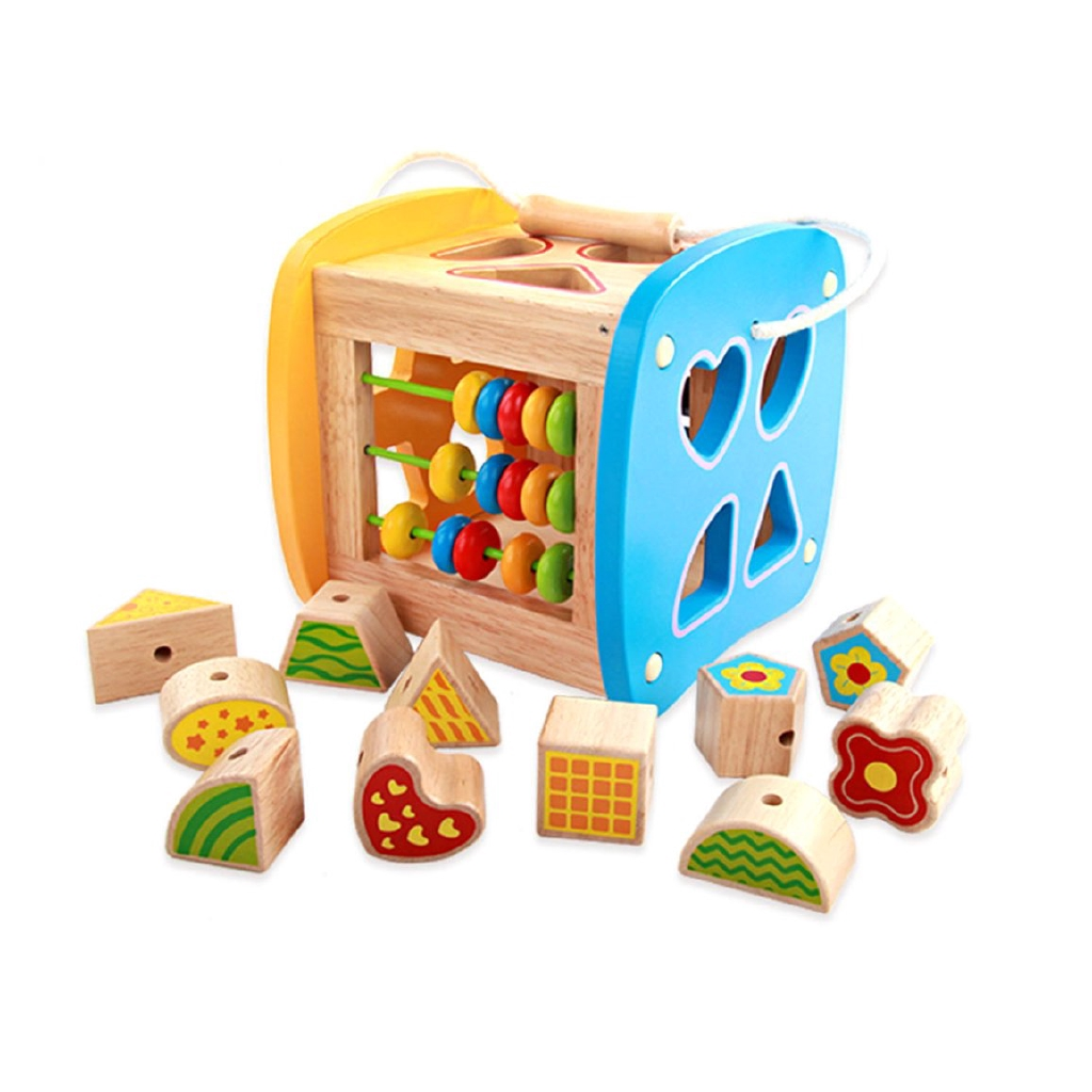 Wooden Shape Sorting Geometric Puzzle Toy Preschool Learning Educational Toys