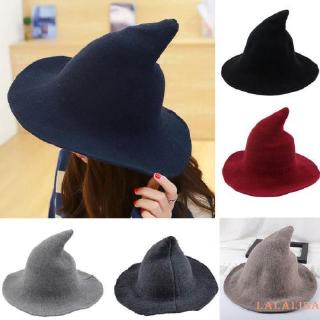 Mu♫-Modern Witch Hat Made From Fashion Sheep Wool Halloween Witch Hat NEW