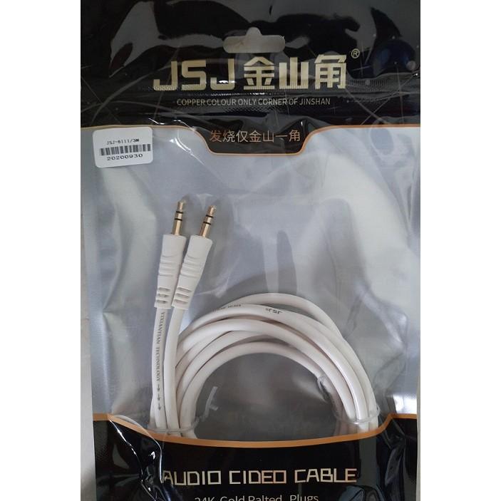 Dây 1 ra 1 đầu 3.5mm JSJ 1.5m- Lõi đồng