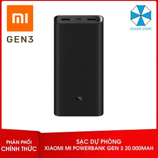 Pin sạc dự phòng Xiaomi Mi Power Bank Gen 3 20000mAh Type-C 2019