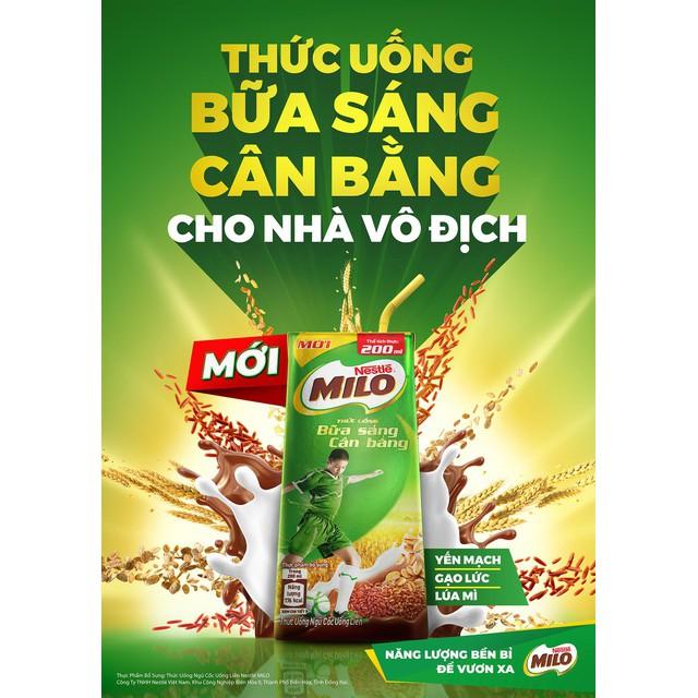 Hình ảnh Thùng 30 hộp sữa ngũ cốc Nestle Milo 200ml-4