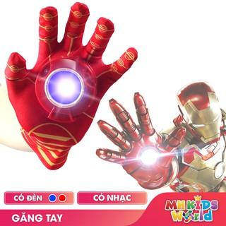 Găng tay phát nhạc và đèn Iron Man đồ chơi hóa trang Người Sắt cosplay halloween chơi Trung Thu, Sinh nhật