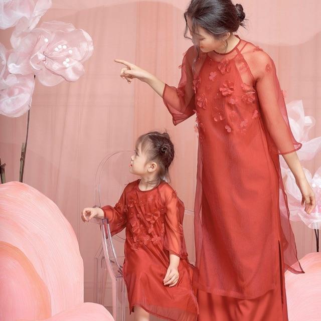 Áo dài mẹ và bé có bán rời