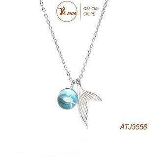 Dây chuyền bạc hình đuôi nàng tiên cá đính đá pha lê siêu phẩm 2021 ANTA Jewelry - ATJ3556