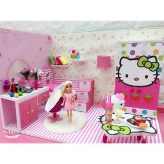 Nhà búp bê dollhouse kitty roombox