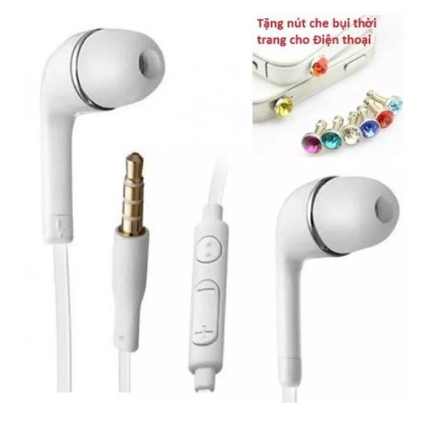 Tai nghe dùng cho Samsung, Iphone, HTC... (thời trang cho các bạn trẻ) + Tặng Nút bịt chống bụi