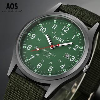 Đồng hồ thời trang nam nữ SOKI Sk03 dây nato cực chất, kiểu dáng quân đội thể thao thumbnail