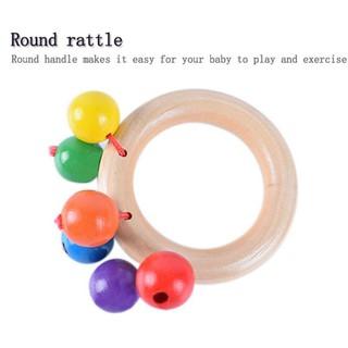 BabyL Infant Wooden Bed Bell Instrument Learning Toys