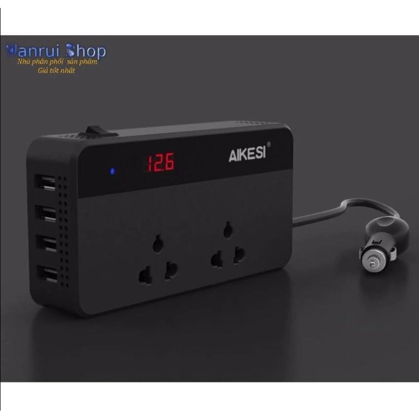 chuyển nguồn điện trên ô tô Aikesi 12V hoặc 24V Sang nguồn 220V 200W hàng cao cấp