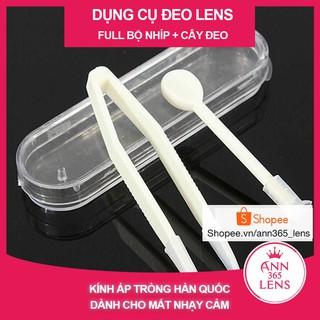 Bộ phụ kiện giá rẻ, dụng cụ đeo - tháo lens chuyên dụng an toàn (cây đeo - gắp)
