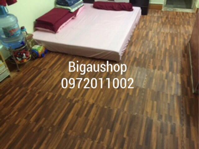 Combo 2 bộ thảm xốp vân gỗ ÂU LẠC 42x42