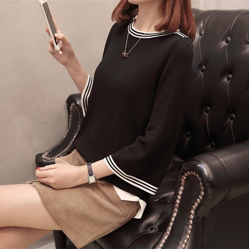 Áo Sweater Tay Loe Thời Trang Xinh Xắn Cho Nữ