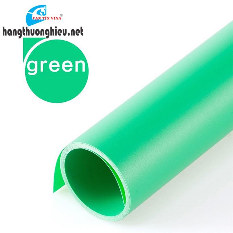 Phông nền chụp ảnh sản phẩm chuyên nghiệp - nhựa PVC xanh lá (1m x 1m)