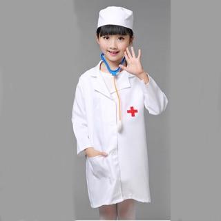 Áo Bác Sĩ Cho Bé Hoá Trang Thành Bác Sĩ Hàng Đẹp Chất Vải Tốt
