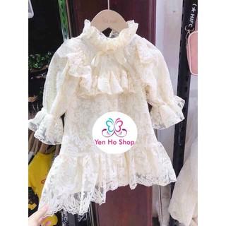 Váy Tiểu Thư ren cho bé gái siêu xinh