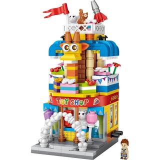 Đồ chơi lắp ráp trẻ em Cửa hàng đồ chơi Mini street LOZ 1643 (414 chi tiết)