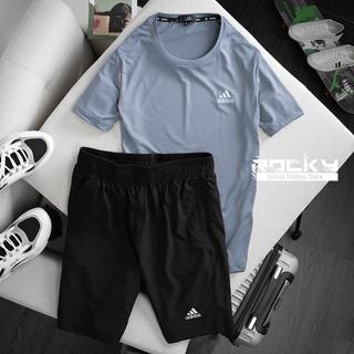 Bộ thể thao nam cao cấp Adidas, vải thun lạnh thoáng khí cực mát