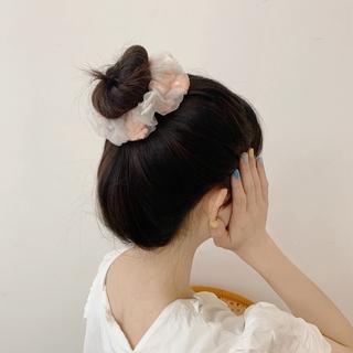 Dây buộc tóc phối ren hoa xinh xắn đáng yêu 4