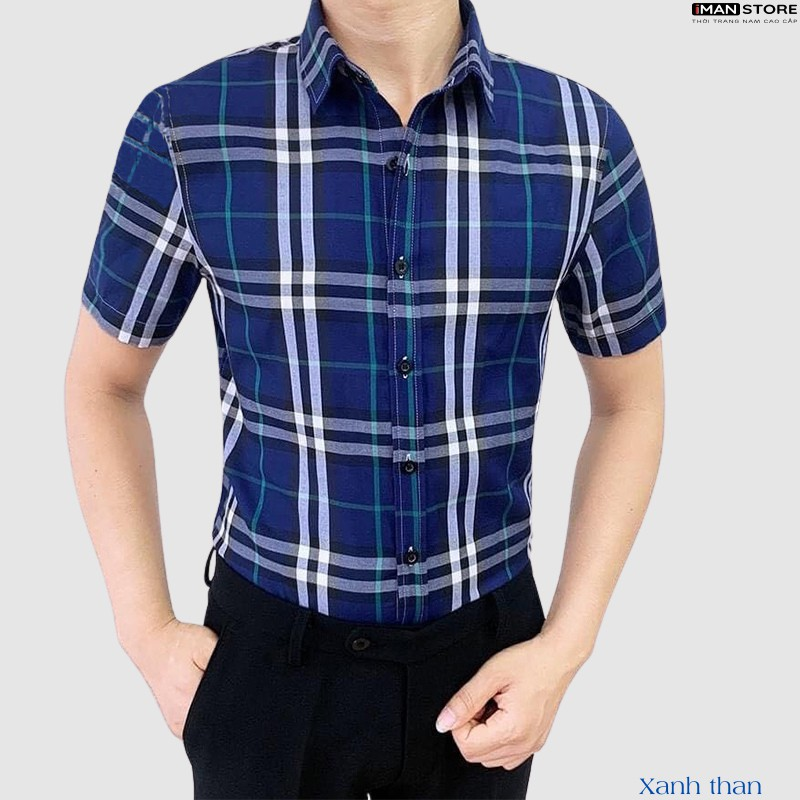 Mặc gì đẹp: Sang trọng với Áo Sơ Mi Nam Ngắn Tay BBR, Áo Sơ Mi Nam Hàn Quốc Công Sở Chất Vải Cao Cấp Bền Đẹp, Thoáng Mát