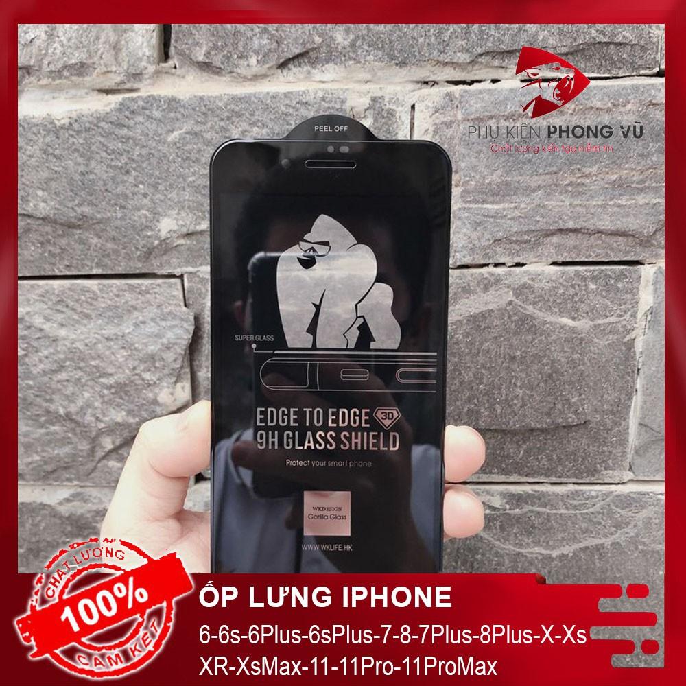 Kính Cường Lực Iphone King Kong Không Hộp cho Iphone 6Plus 6s Plus 7Plus 8Plus X Xs XR XsMax 11 11 Pro 11 Pro Max