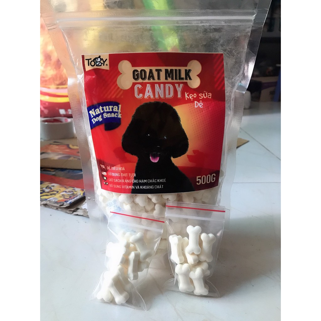 [10 viên] Keo xương sữa dê bổ sung canxi cho chó, mèo, hamster, bọ