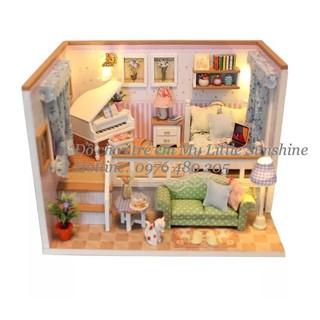 Nhà búp bê tự làm bằng gỗ DIY Because of you