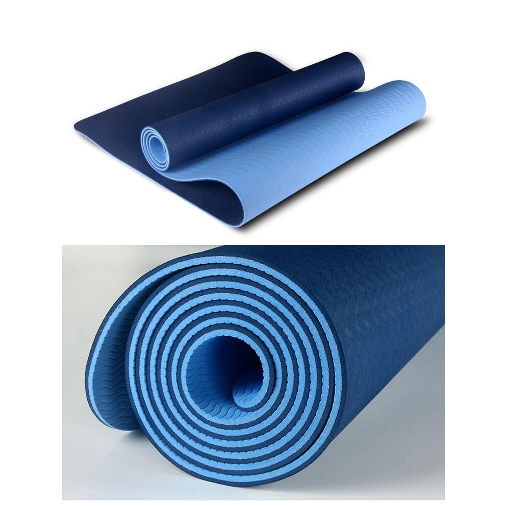 [Tặng túi ] THẢM TẬP YOGA 2 LỚP TPE  𝑭𝑹𝑬𝑬𝑺𝑯𝑰𝑷 Thảm tập gym SIÊU BỀN, BÁM TỐT .