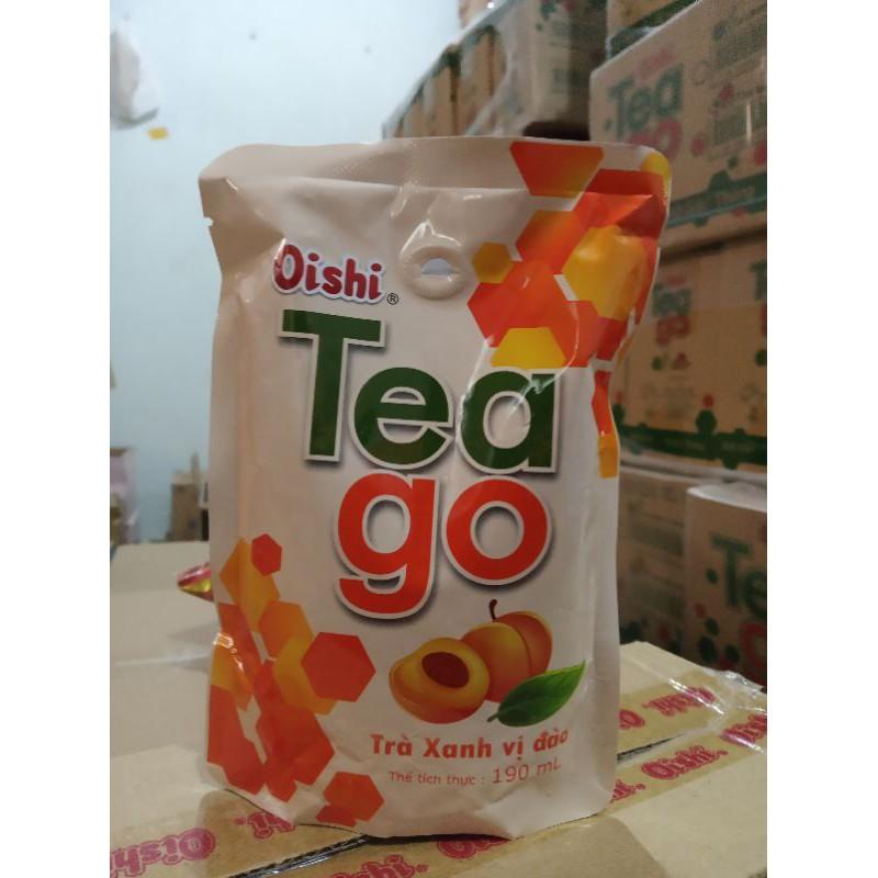 Trà xanh tea go oishi vị đào và vị chanh siêu ngon