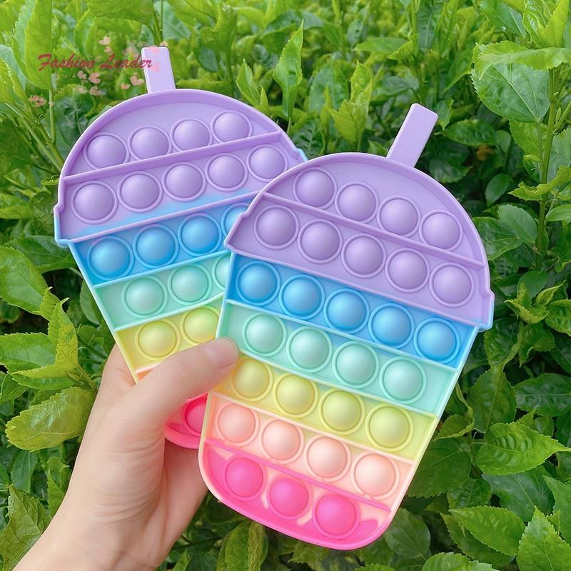 Đồ Chơi Pop It Tiktok bong bóng giải tỏa căng thẳng độc đáo sáng tạo Push Pop Fidget Toy Bubble Unicorn Among US Rainbow Đồ Chơi Stress Relief Special Needs Silent Classroom Tiktok Board Game Đồ Chơi Giáo Dục For Kids