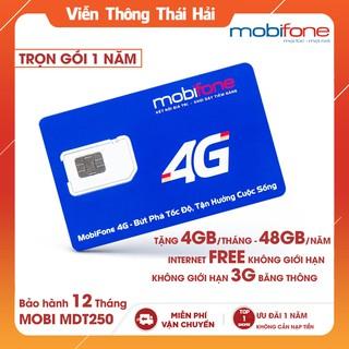 SIM 4G Mobifone MDT250A Trọn Gói 1 Năm Với 4GB/Tháng Không Giới Hạn
