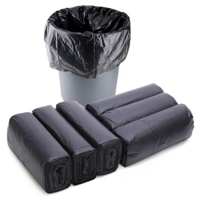Túi đựng rác màu đen 2 quai