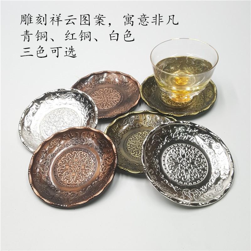 mks แผ่นรองแก้วฉนวนกันความร้อนกันลื่นถาดชาชา liujunzi kung fu ชุดน้ําชา