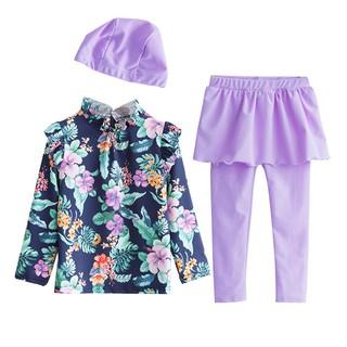 Đồ Bơi Trẻ Em Dạng Váy - Áo Bơi Dài Tay Kèm Quần Dài và Chân Váy Tím POPO SW1650 thumbnail