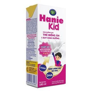 Thùng sữa bột pha sẵn Hanie Kid loại 180ml