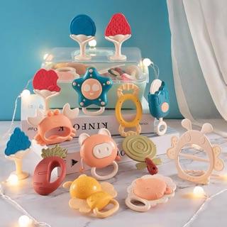 Set đồ chơi xúc xắc gặm nướu 14 món cho bé