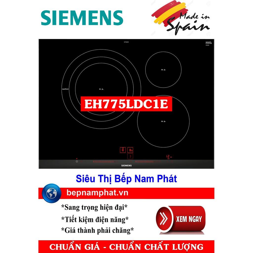 Bếp từ 3 vùng nấu Siemens EH775LCD1E 5 mức công suất chiên, xào, rán nhập khẩu Tây Ban Nha
