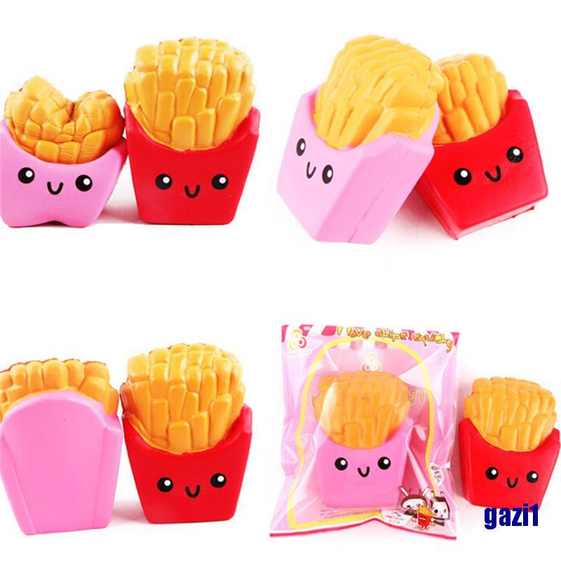 (gazi1) 10.8*8cm Squishy french fries Cream Scented Squeeze Super Slow Rising Toy