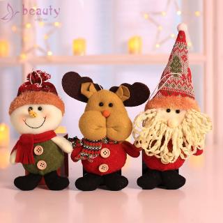 New Santa Elk Snowman Hanging Table Ornament Decor Xmas Gift Car Cute Festival Puppets Decoration Doll Pendant