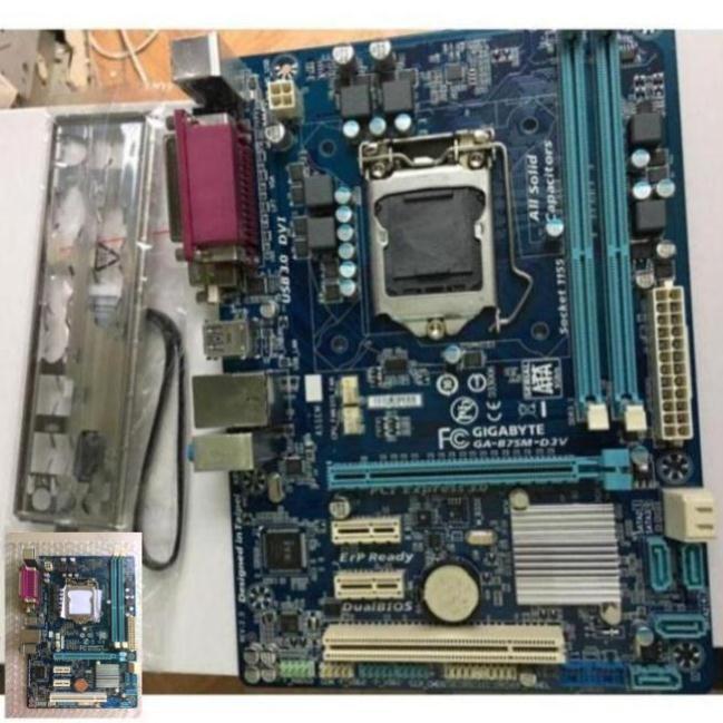 (BH LÊN ĐẾN 1 NĂM) Main Giga B75, DDR3, sk 1155 - B75 giga gồm chặn main (tặng keo tản nhiệt hãng)_ LỖI 1 ĐỔI 1