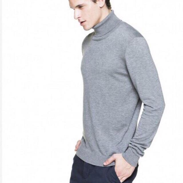 Áo len nam lông cừu dày cao cổ