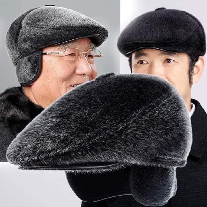 Mũ lót lông che tai trung niên