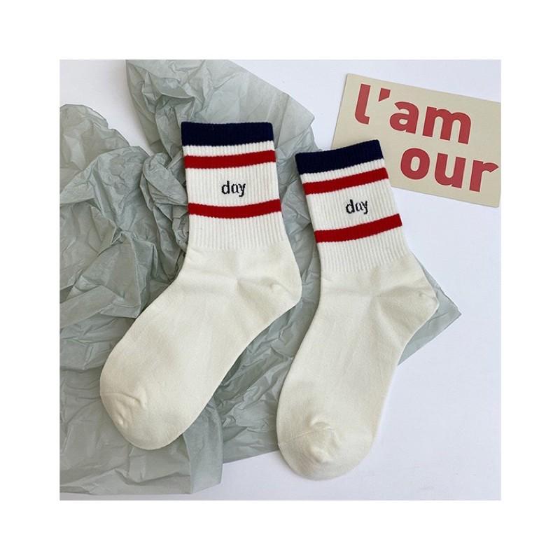Vớ Tất Unisex Cổ Cao Dream Day [ FREESHIP ]vải cotton kháng khuẩn, hàng loại 1 bao đổi trả dành cho cả nam và nữ