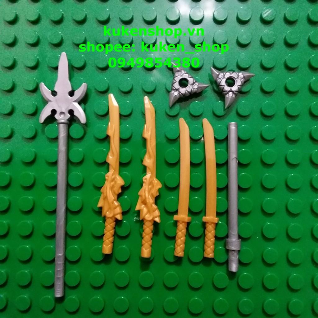 Ninjago Full Bộ Vũ Khí Kiếm Rồng Kiếm Katana Siêu Hot NO.456 – Phụ Kiện Lego