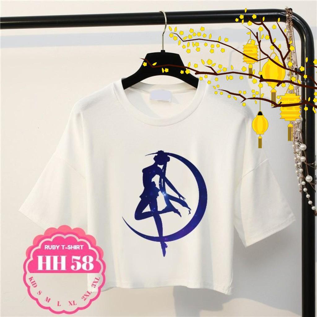 Áo thun nữ ngắn tay  thời trang màu trắng hình hoạt hình dễ thương,áo thun tay ngắn nữ