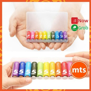 Pin Xiaomi ZMI Rainbow 5 AA và 7 AAA vỉ 10 viên - Pin AA/AAA Xiaomi Rainbow Alkaline dung lượng cao - Minh Tín Shop