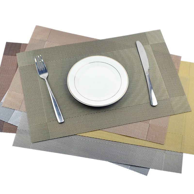 Tấm lót bàn ăn, placemat : miếng thảm trải bàn ăn PVC cách nhiệt, cao cấp, chống trượt