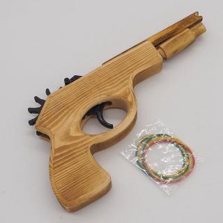 Đồ chơi gỗ bắn vòng chun cò nhựa