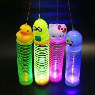 Đèn lồng lò xo phát sáng – thú nhún phát sáng- đèn lồng trung thu- đồ chơi trung thu