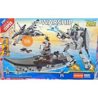 Lego Lele Brother 8561 Lă p Ra p Robot Ta u Sân Bay Ma y Bay Chiê n Đâ u 27 in 1 ( 728 Ma nh )